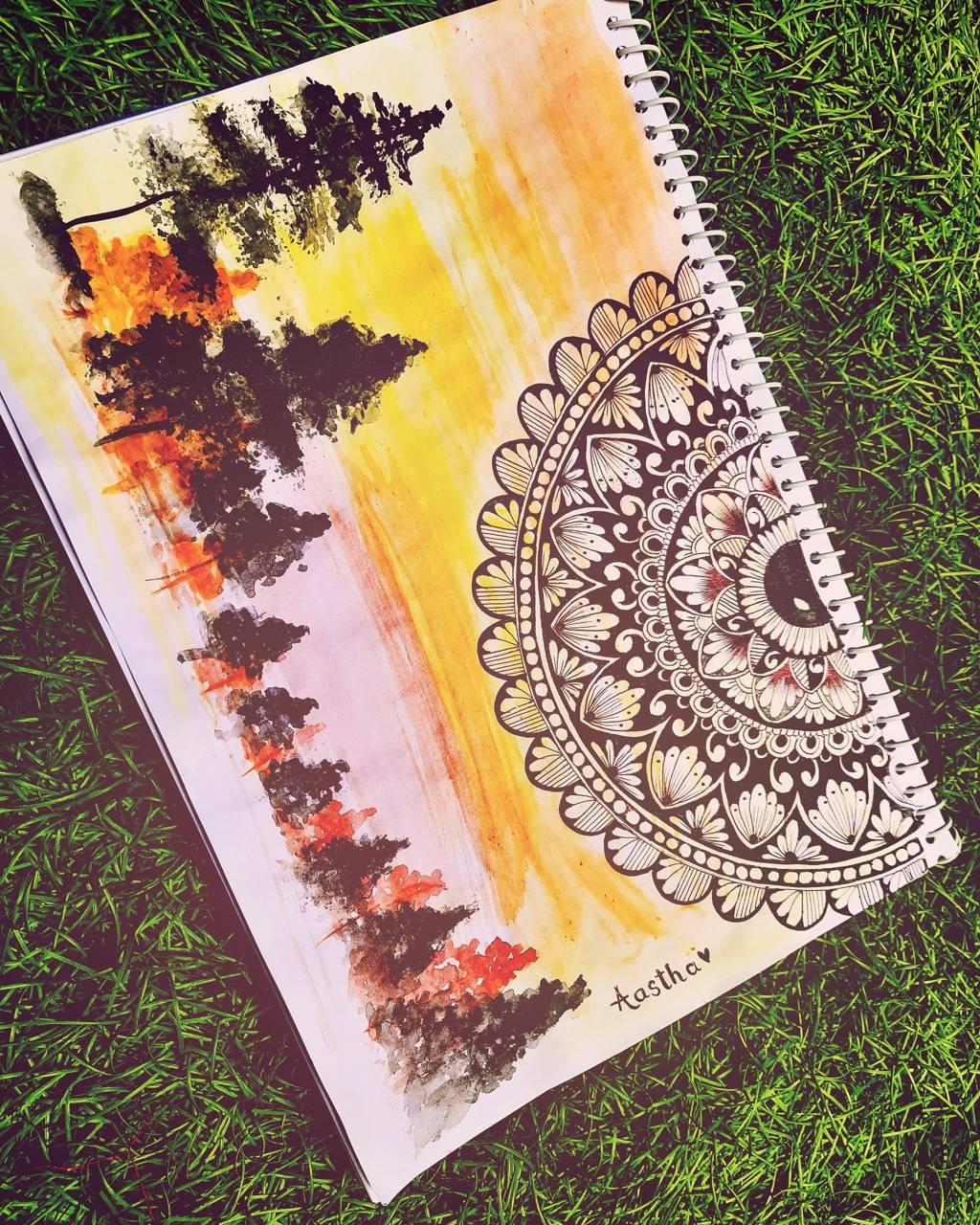 Mandala nature art