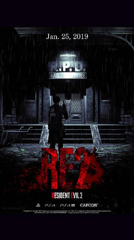 resident evil 2 remake wallpaper iphone