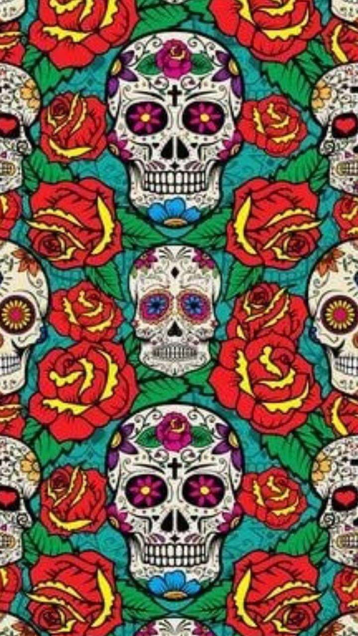 Sugar Skull Wallpaper By Cyanidelollipop 1e Free On Zedge