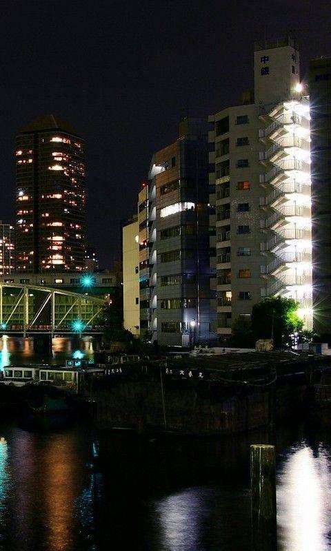 City Towers At Night