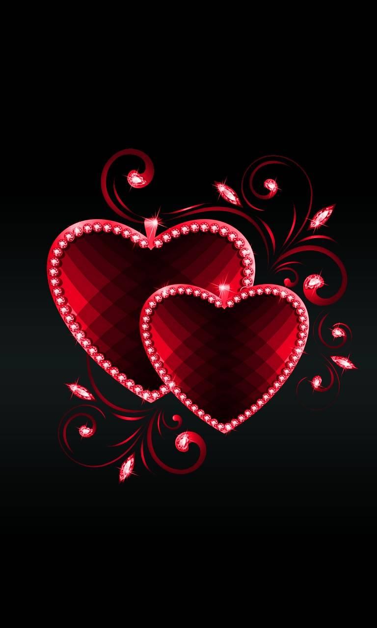 Картинки на телефон сердечки анимация красивые