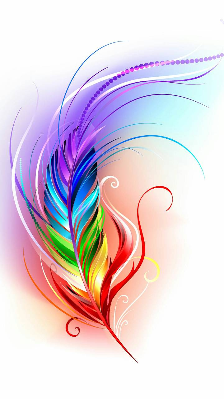 "Vibrant Feather Wallpaper By HotInEER 6a Free On ZEDGEâ""¢"