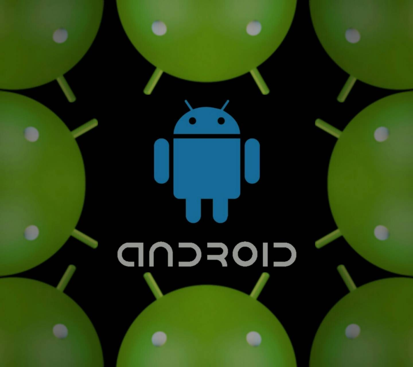 Android Heads Blue