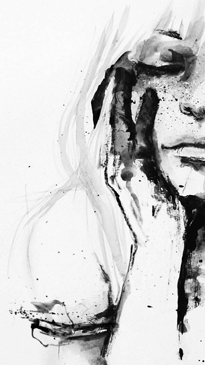 drawning woman