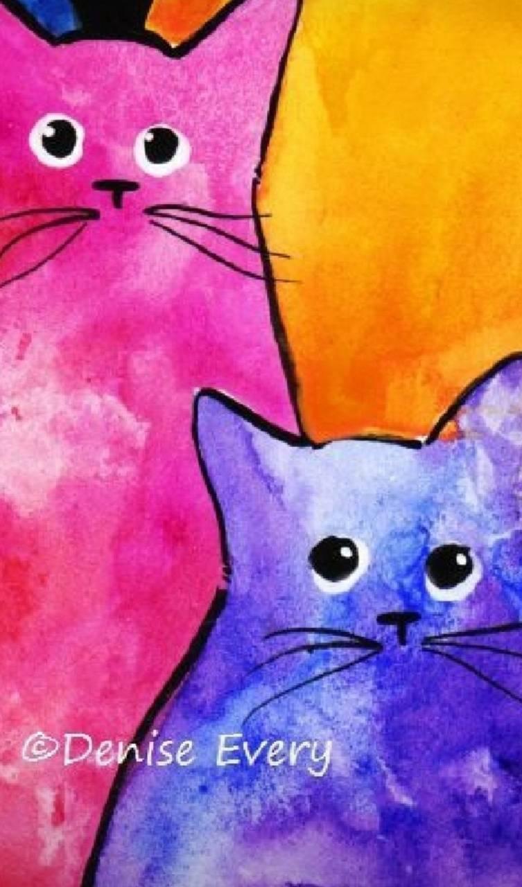 Watercolor Kats