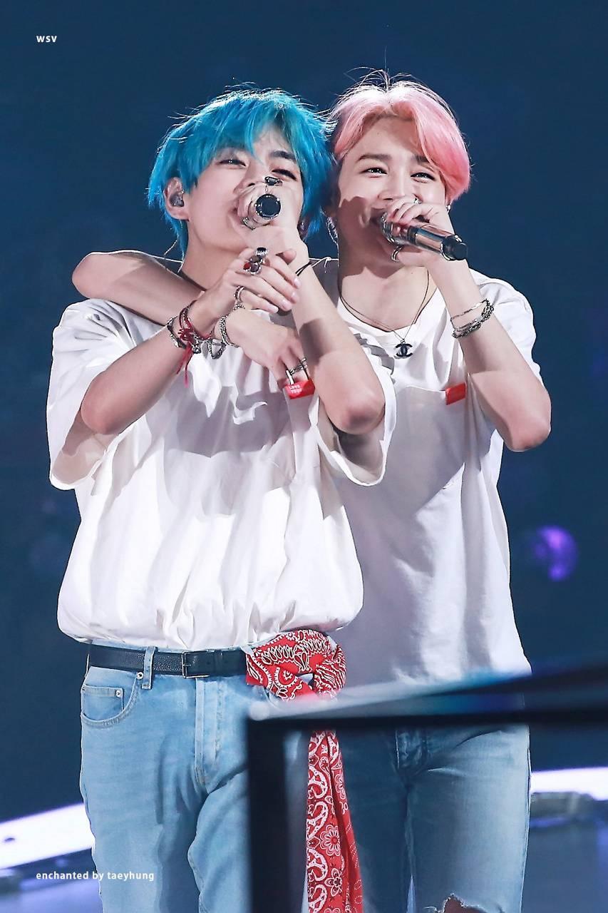 Jimin and Tae