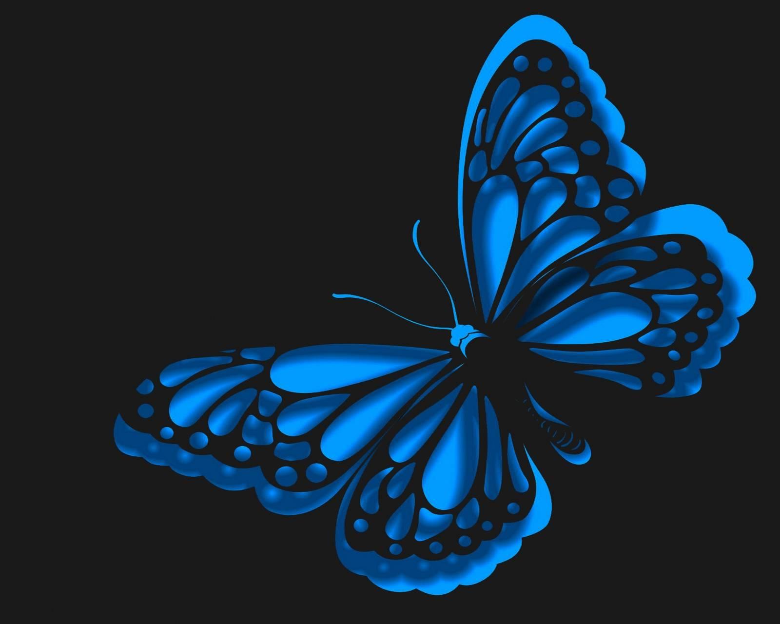 neon blue butterfly