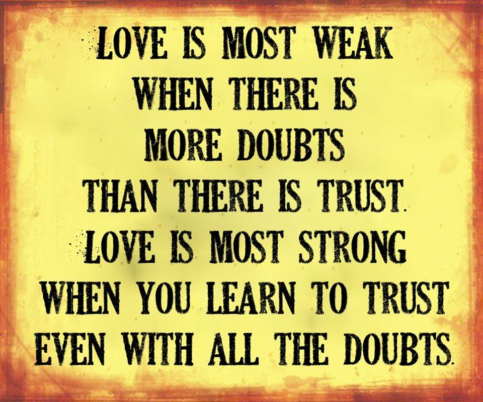 all the doubts