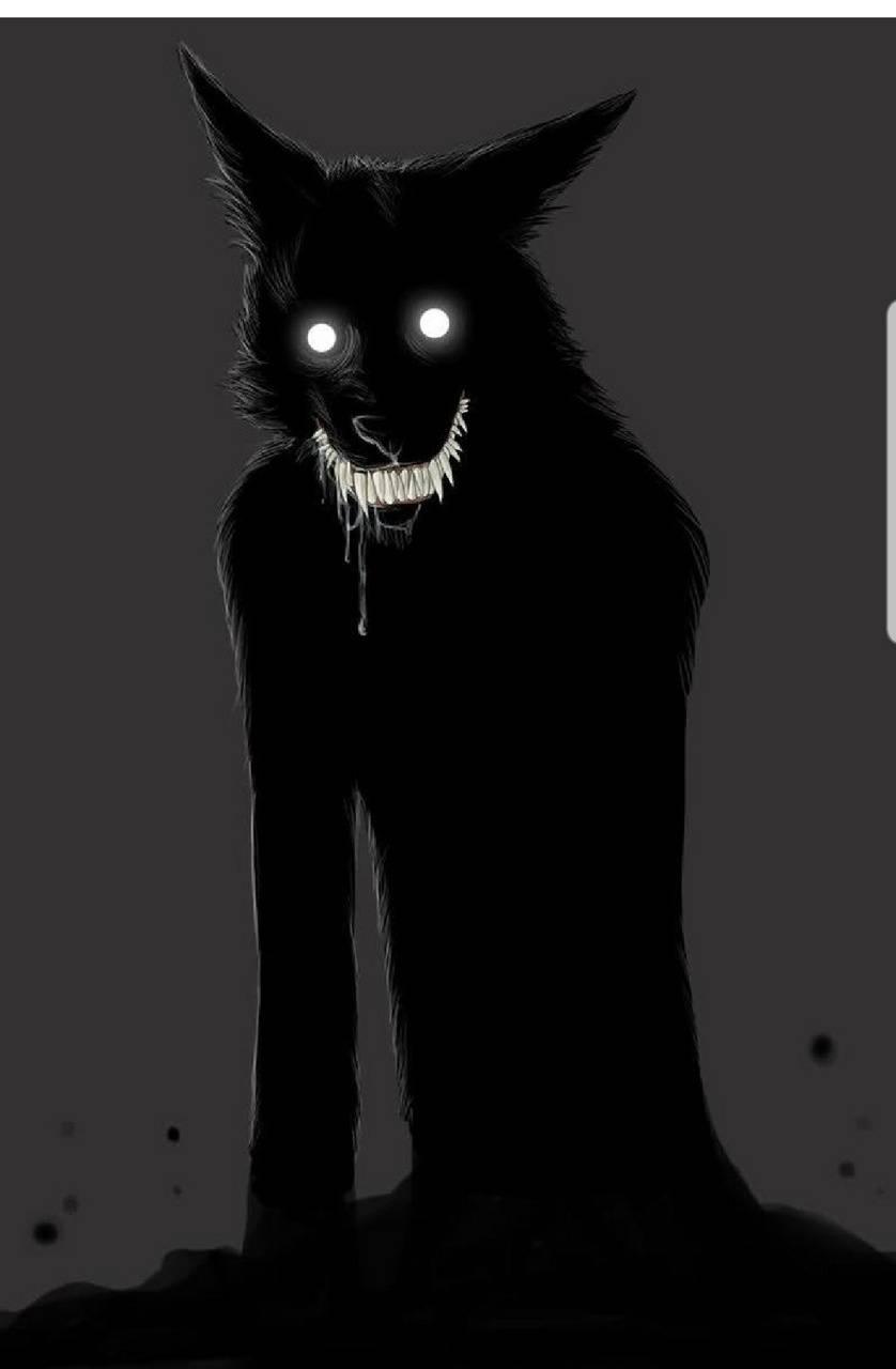 Creepy wolf