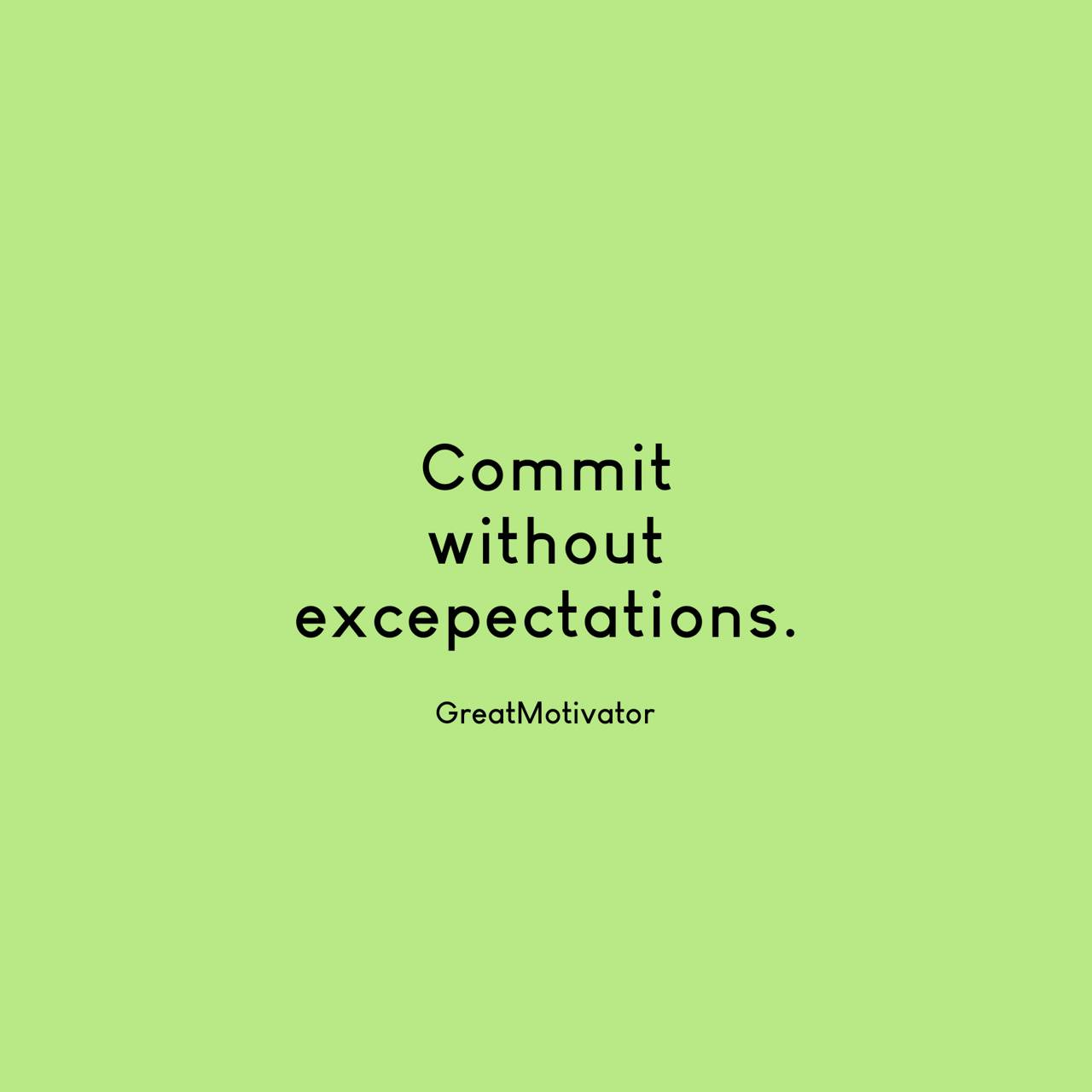 Commit or expect