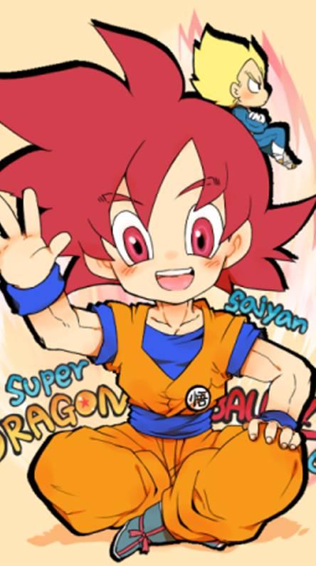 Goku SSJ God Chibi
