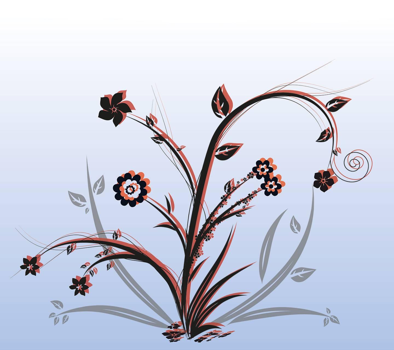 Flower Black Red