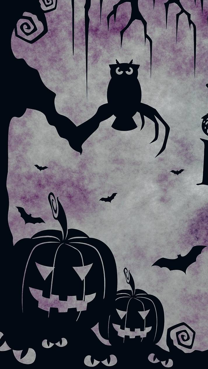 owl and pumpkins