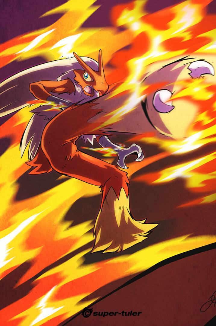 Blaziken Blaze Kick Wallpaper By Toxictidus