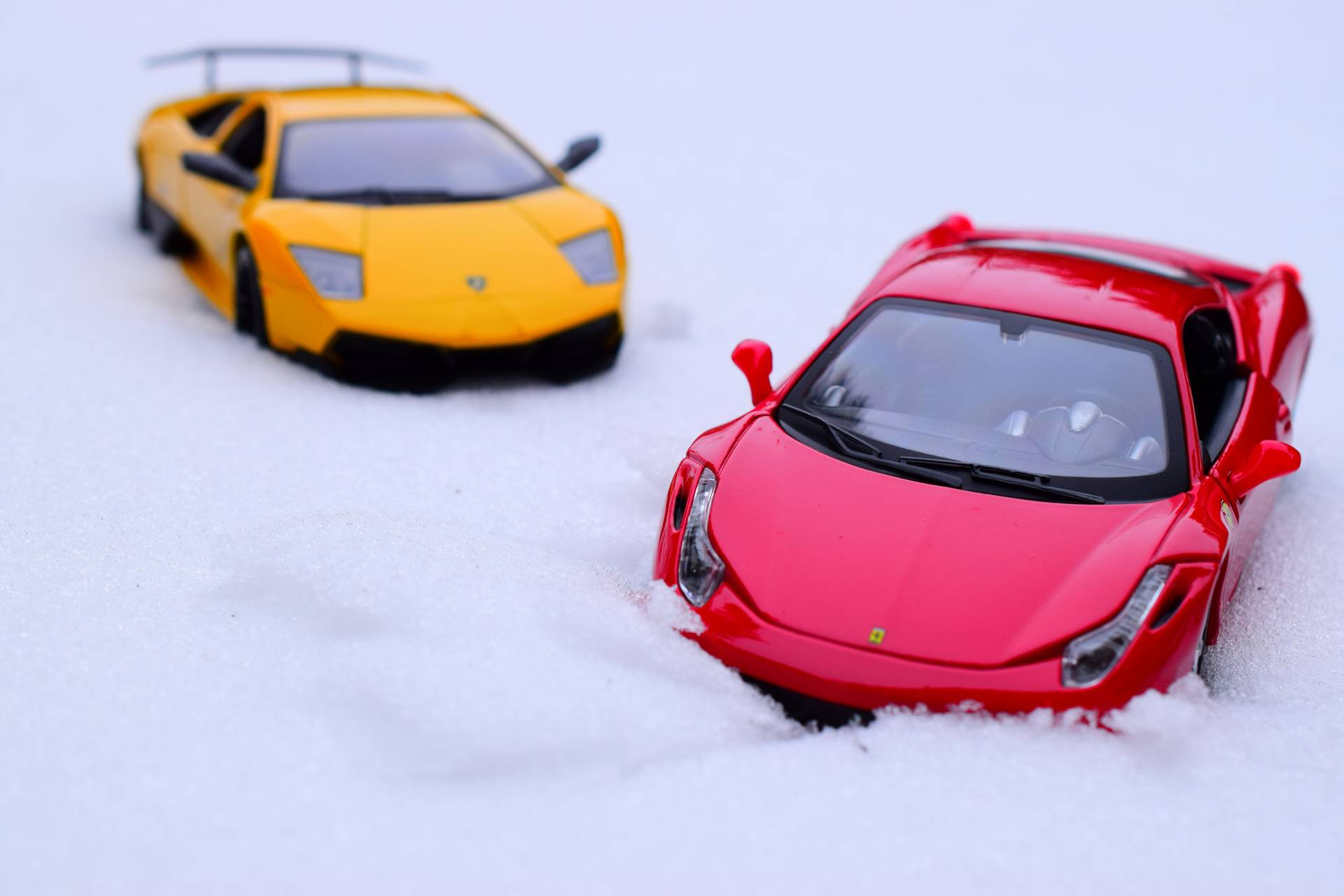 Supercars in Snow