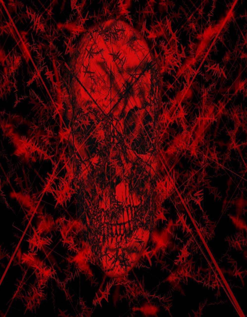 Red And Black Skull Wallpaper By Whiskylover98 Db Free On Zedge