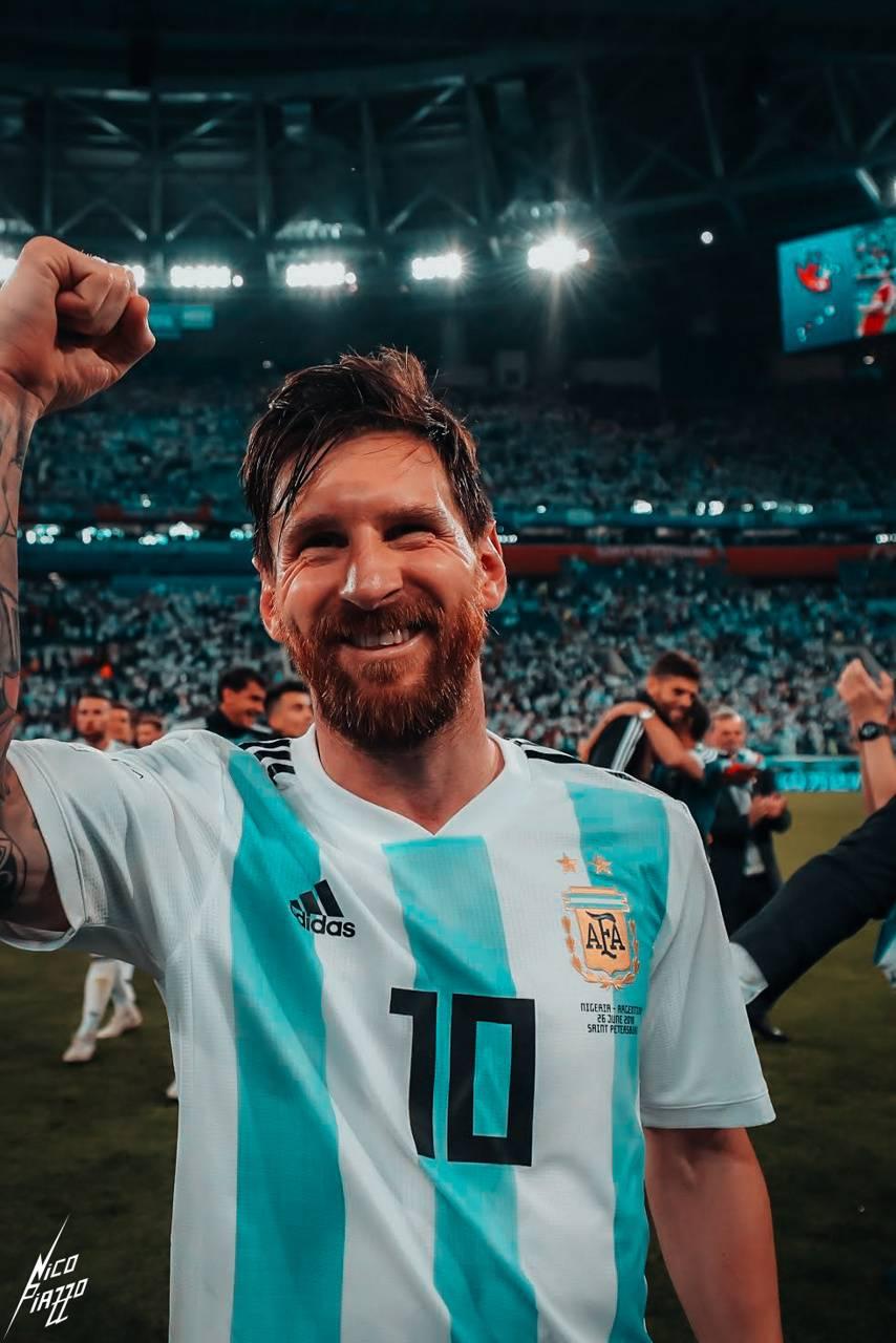 Messi happy