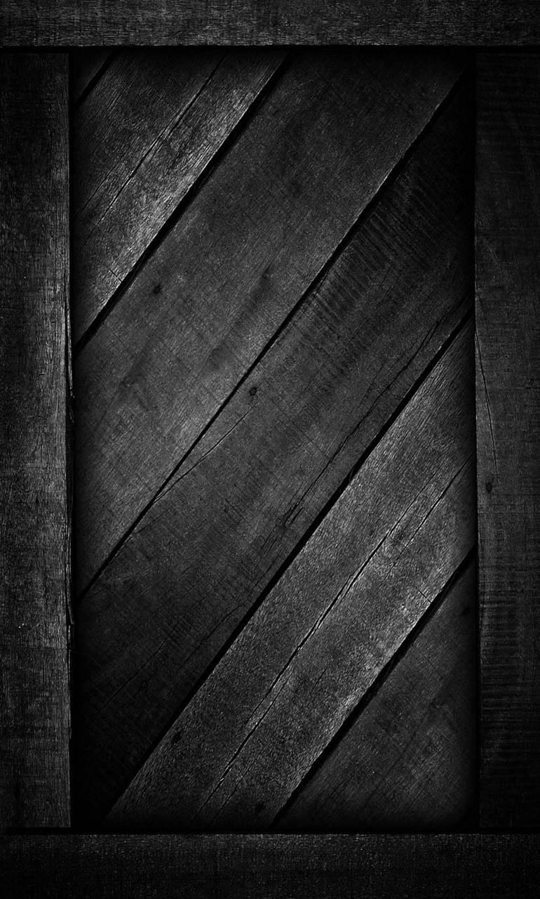 Black wood door