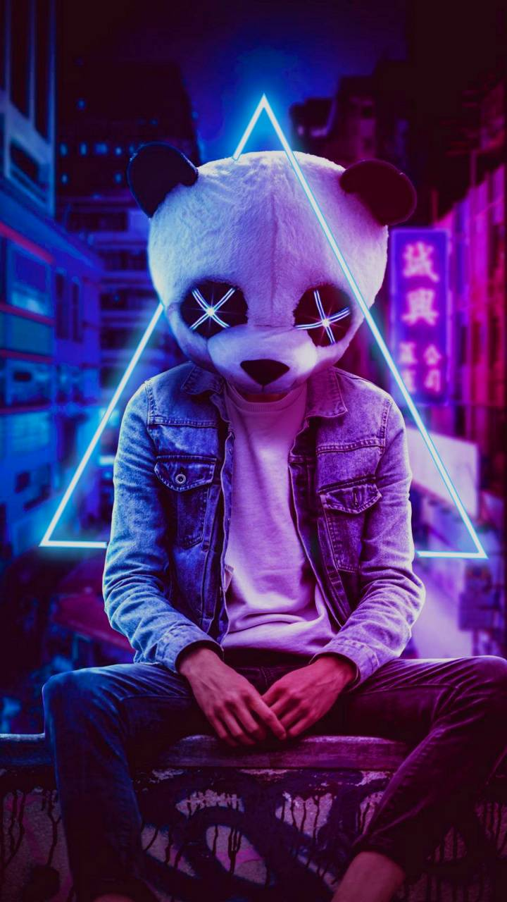 Neon Panda Hd Wallpaper By Screamingyoung Fc Free On Zedge