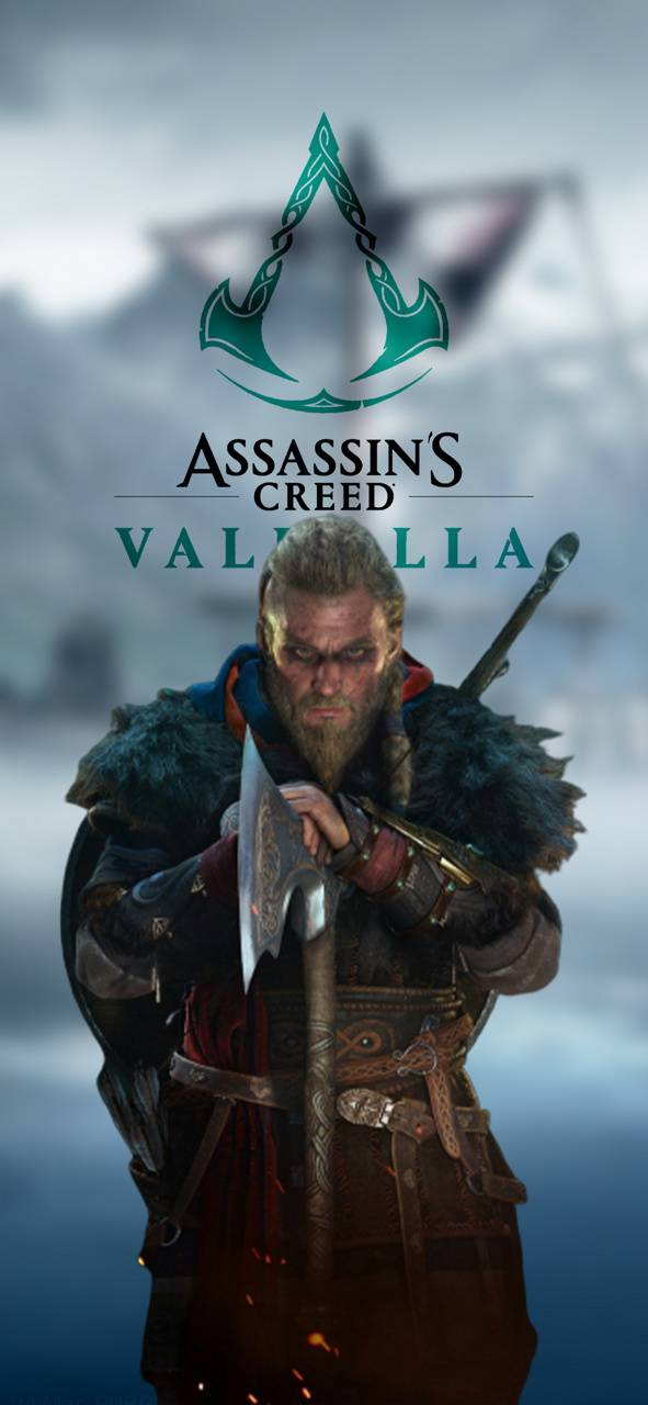 Game Info And Leaks Assassins Creed Valhalla Logo Wallpaper Android