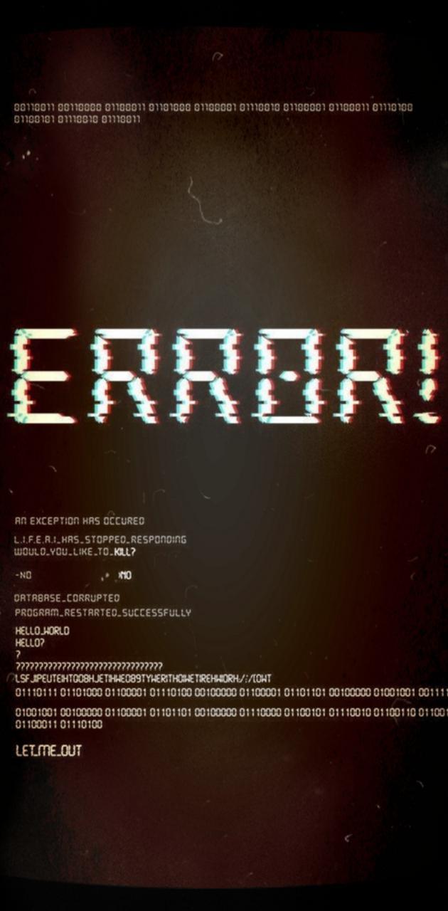 Error! Wallpaper