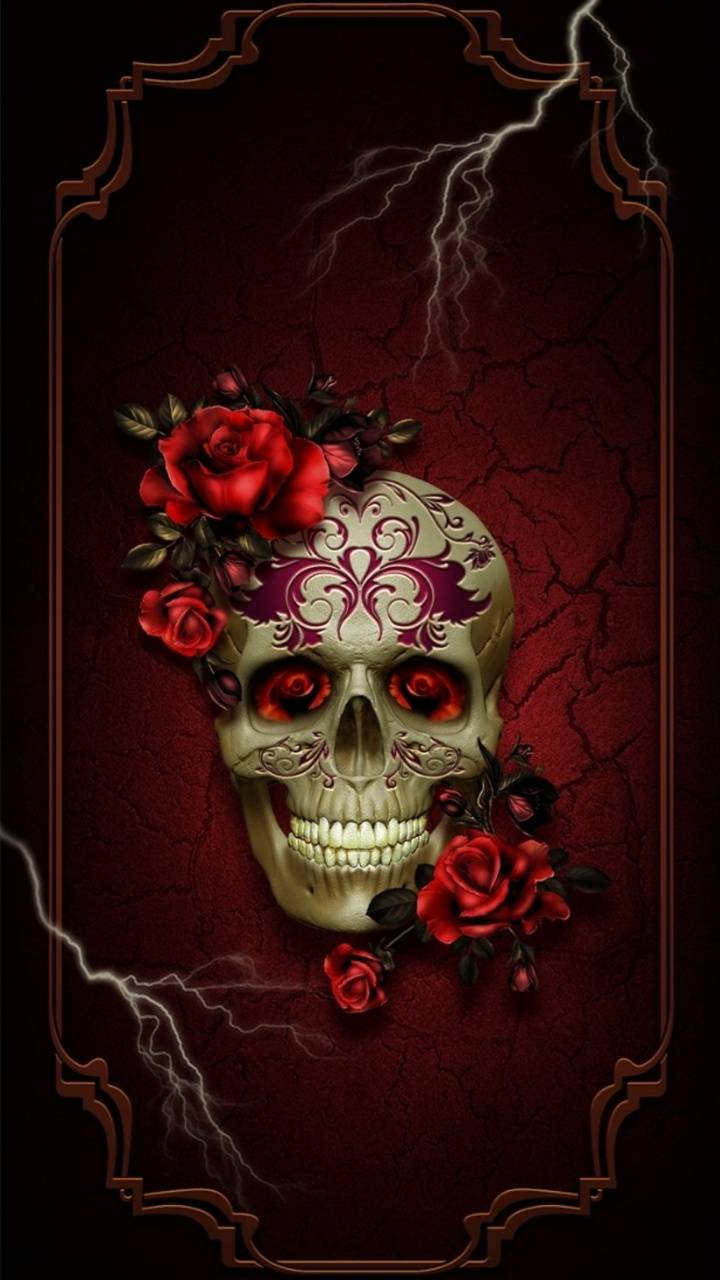 ROSE AND SKULL wallpaper by hende09 - a3 - Free on ZEDGE™