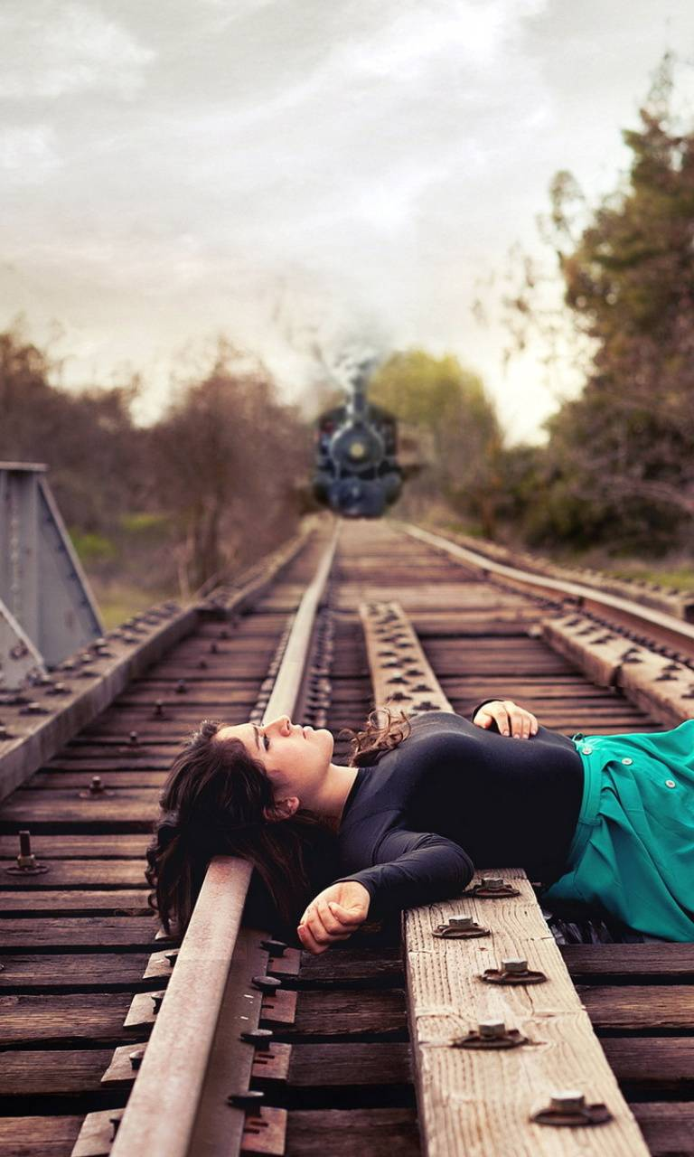 Girl On Railways