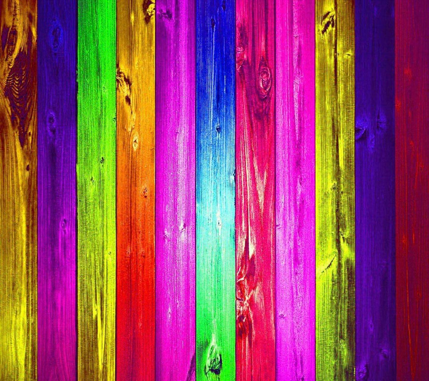 Wooden colorful