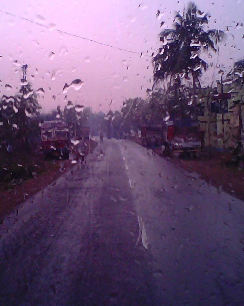 Endless Road In Rain