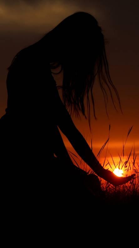 Girls sunset