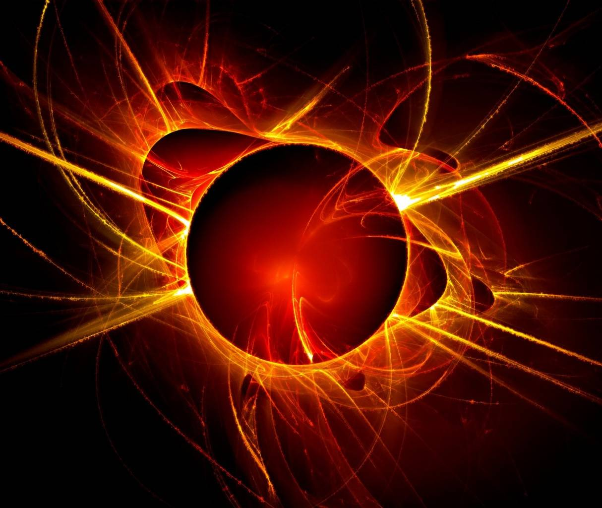 Red Fire Abstract Wallpaper By Khaled1207