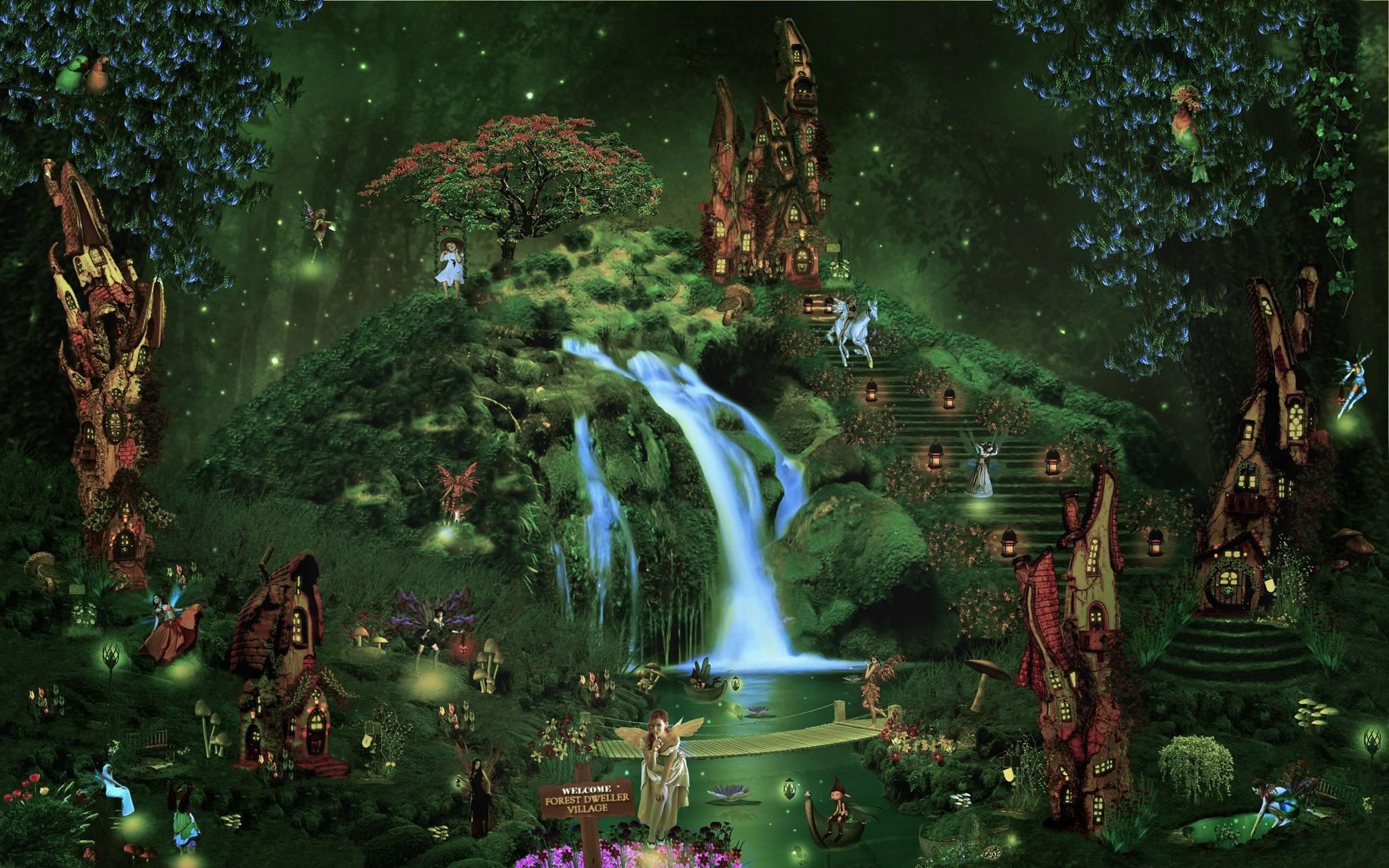 Fairy waterfall wood