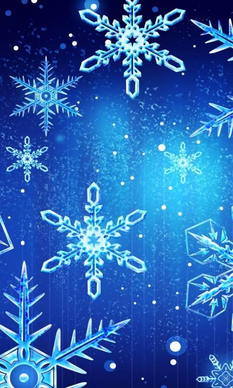 Neon Snowflakes