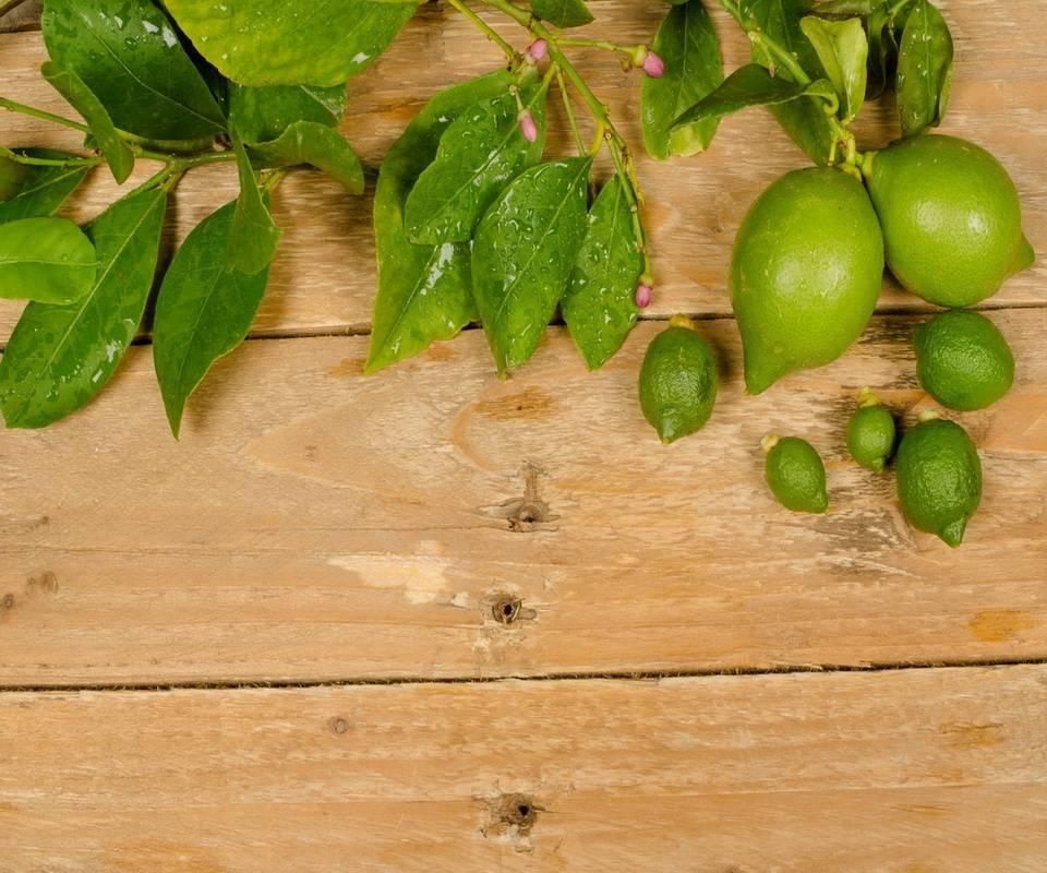 Lemons On Wood