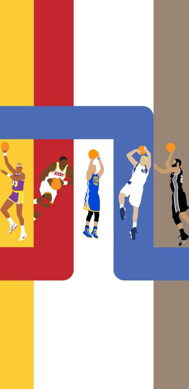NBA Flat Color Art