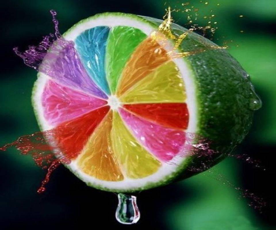 Hd Colourful Lemon
