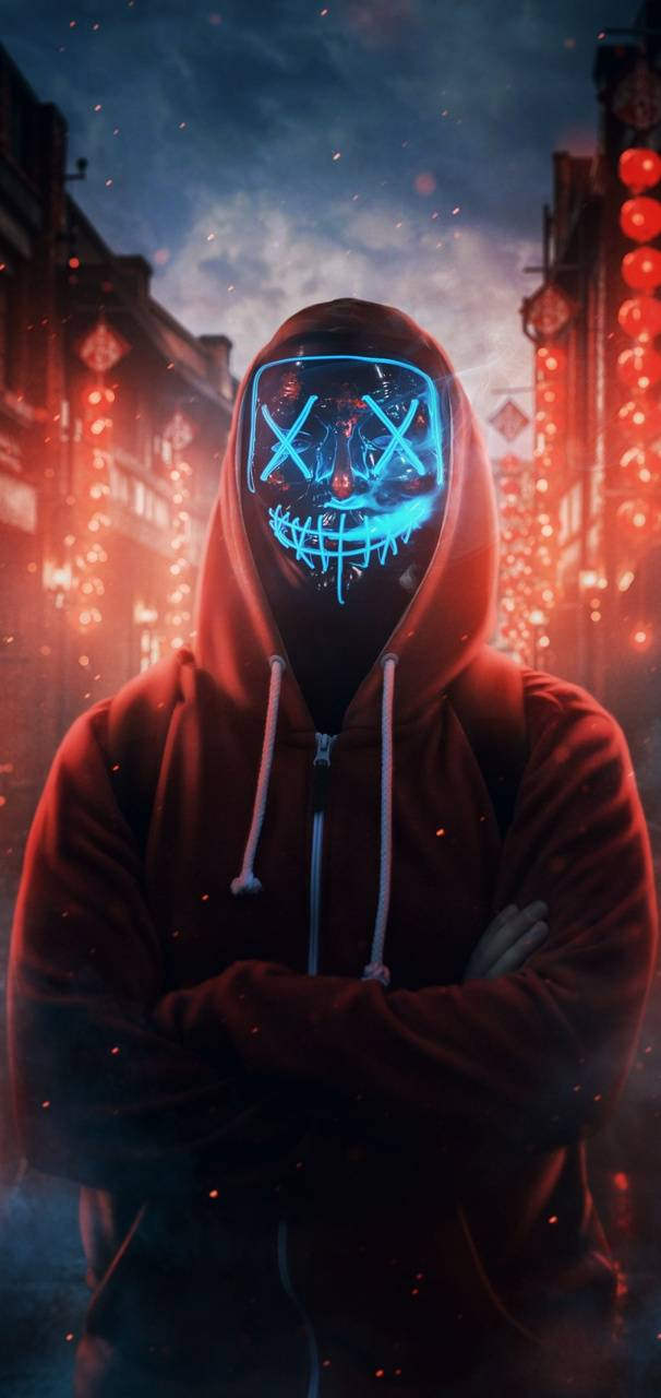 Neon Mask Wallpaper By Themune007 2b Free On Zedge