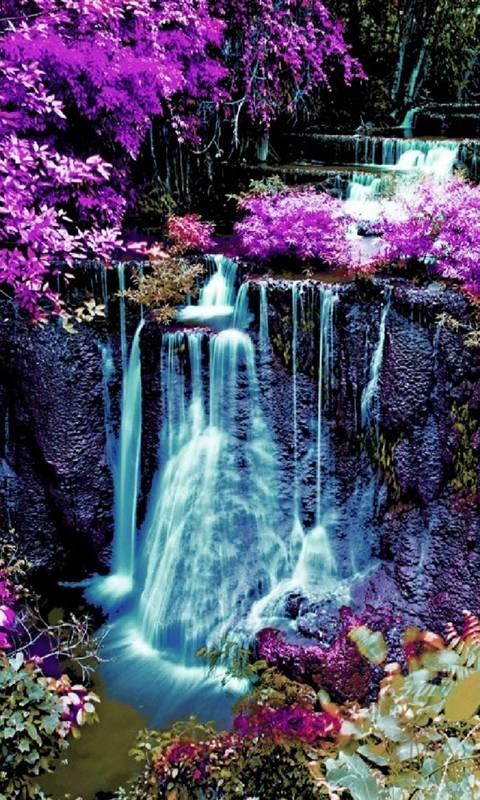 colorful waterfall
