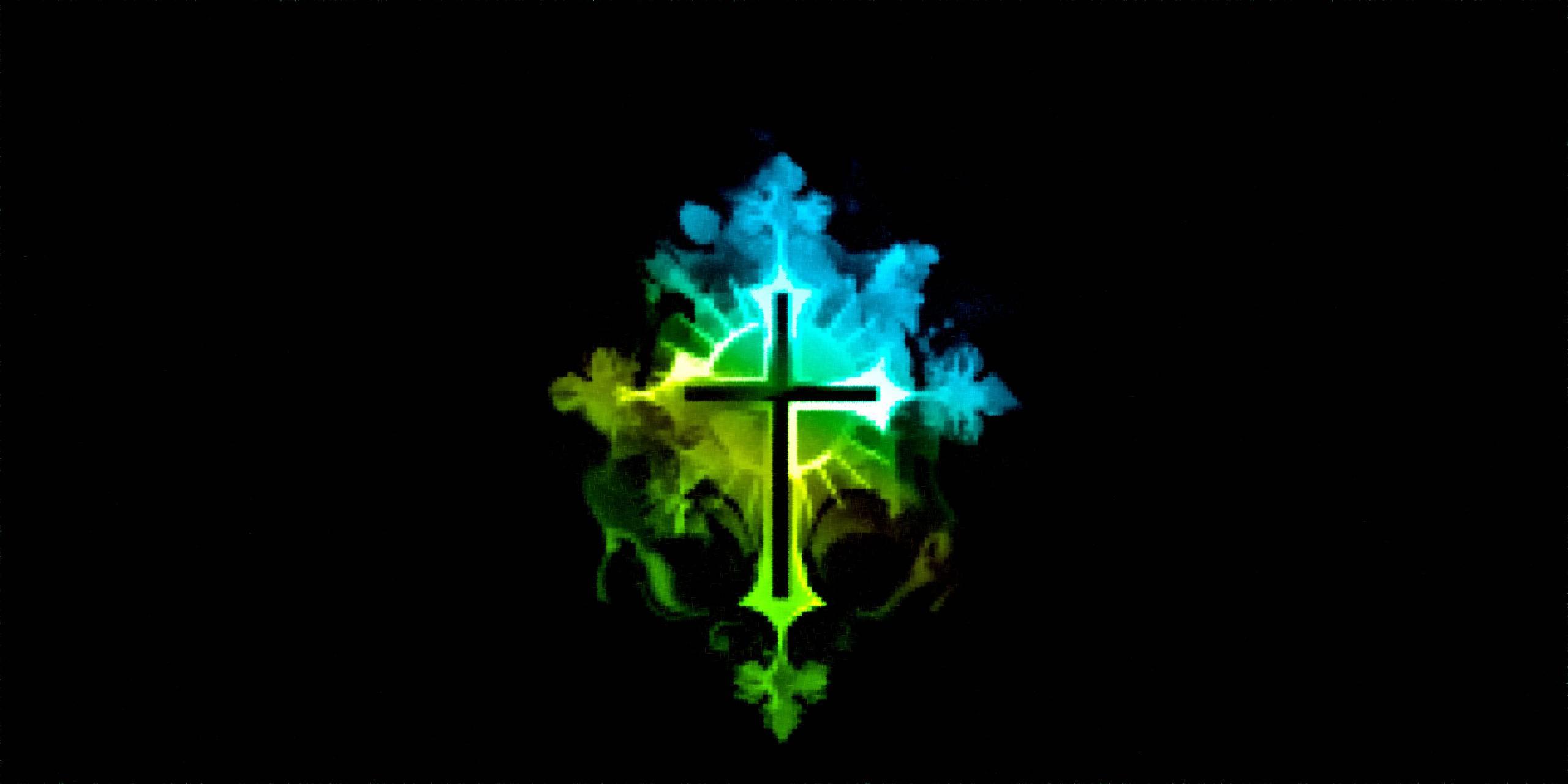 Aqua Green Cross
