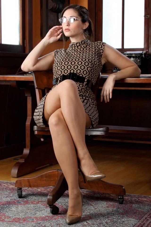 Brunette Secretary