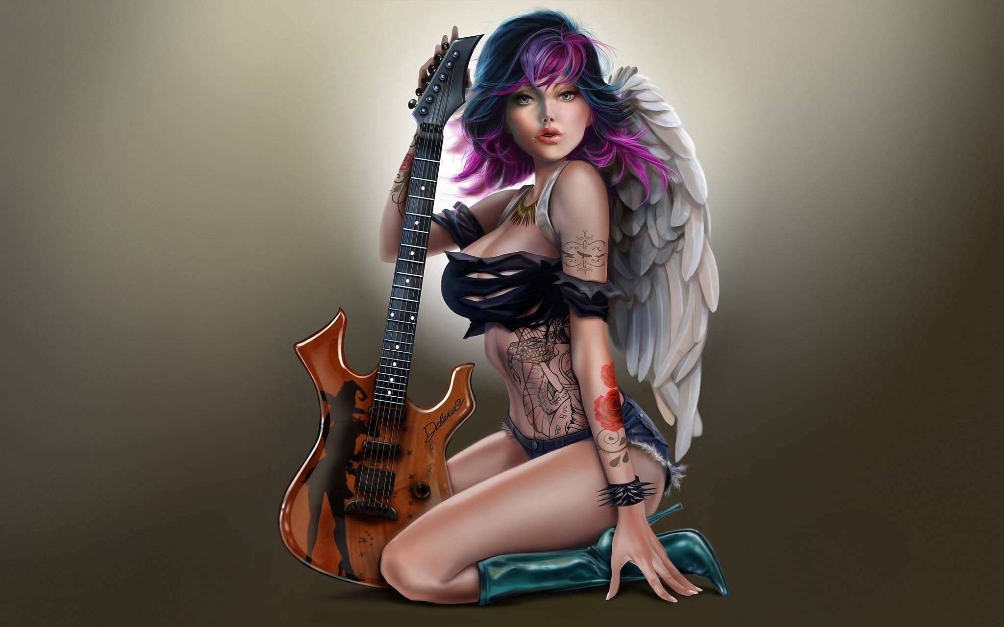 Rock tattoos guitar