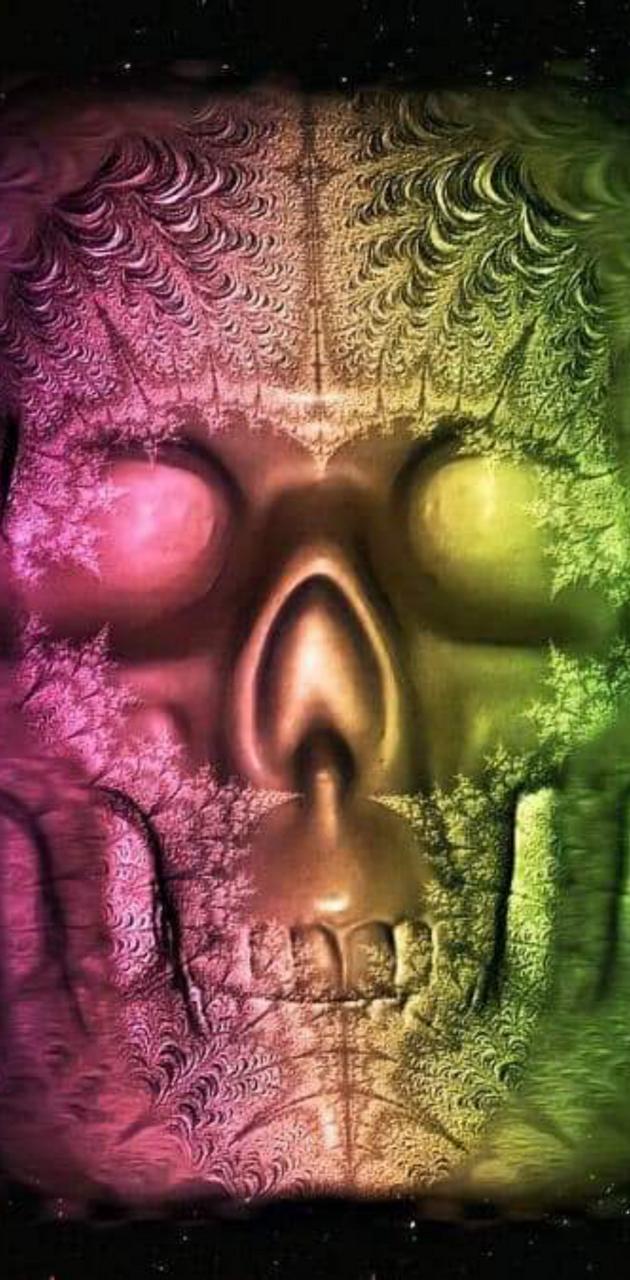 Glitchy skull
