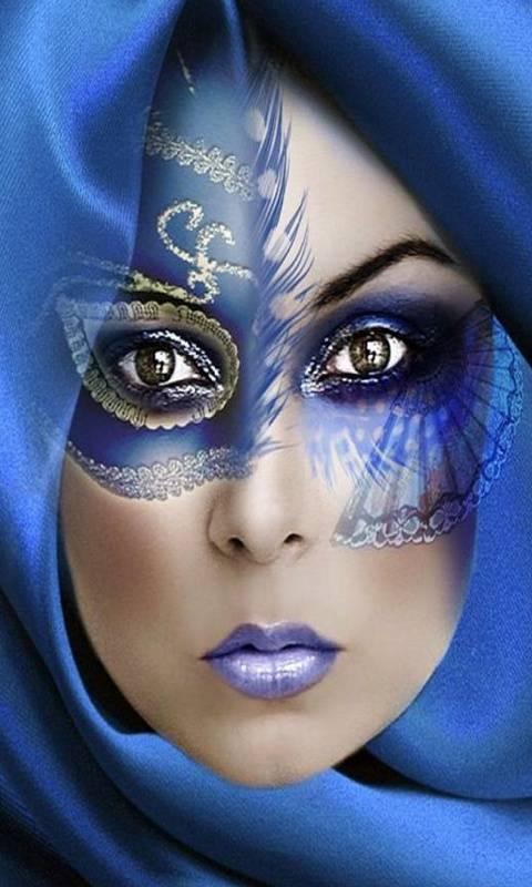 Beauty In Blue Mask
