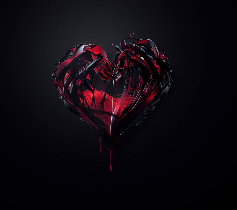 Black 3D Heart