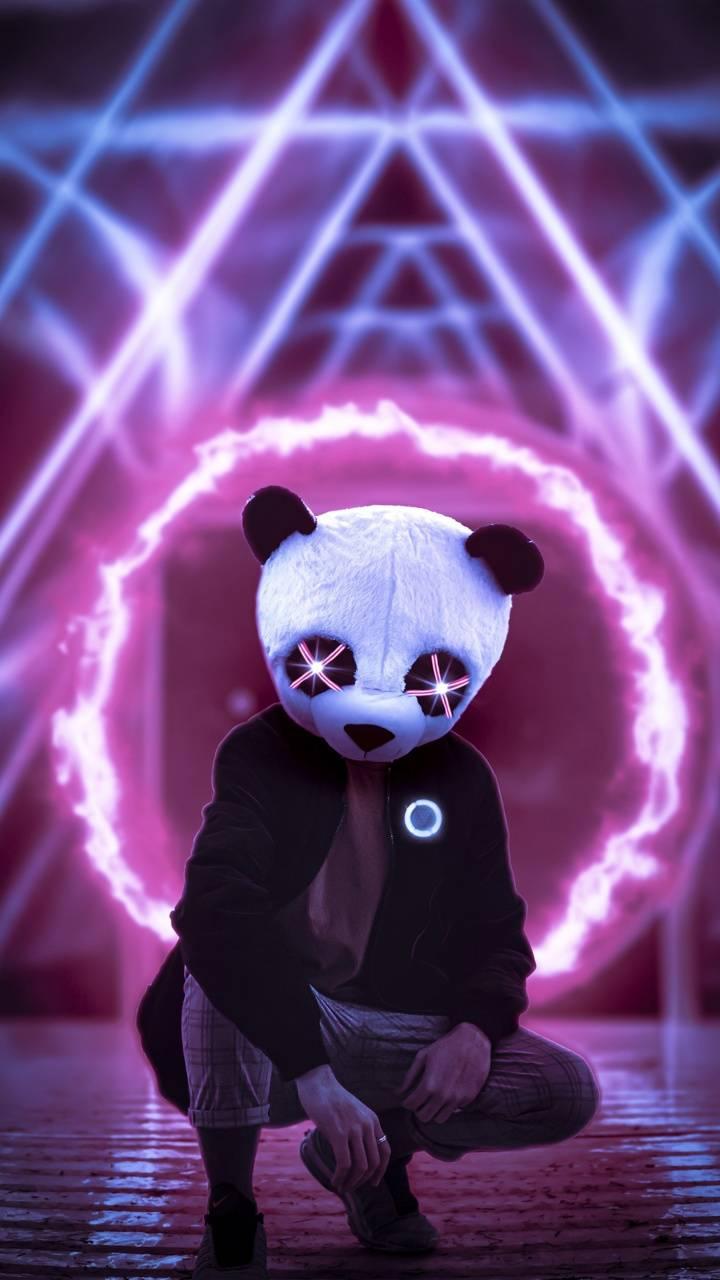 Panda Neon Lights