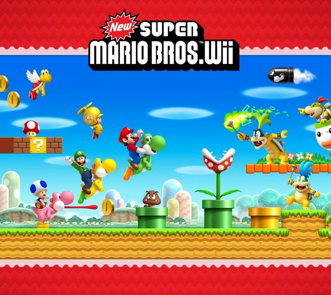 Super Mario Bros Wii Wallpaper By Luigyh E7 Free On Zedge