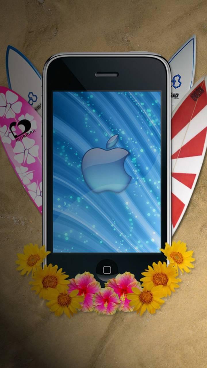beach art iPhone