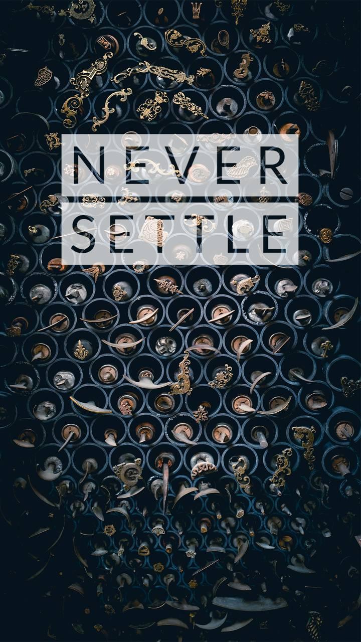 Letter never settle
