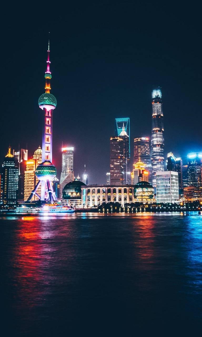 Shanghai Skyline Wallpaper By Nostalgicpixels Bc Free On