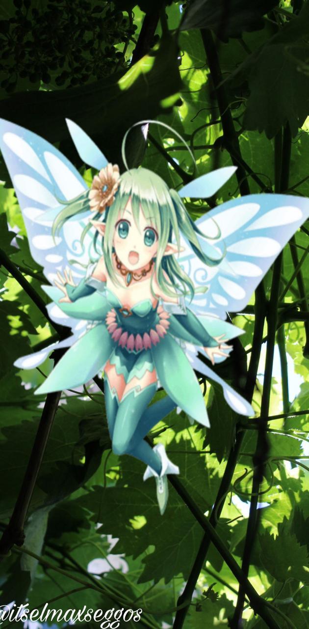 Green Anime Girl